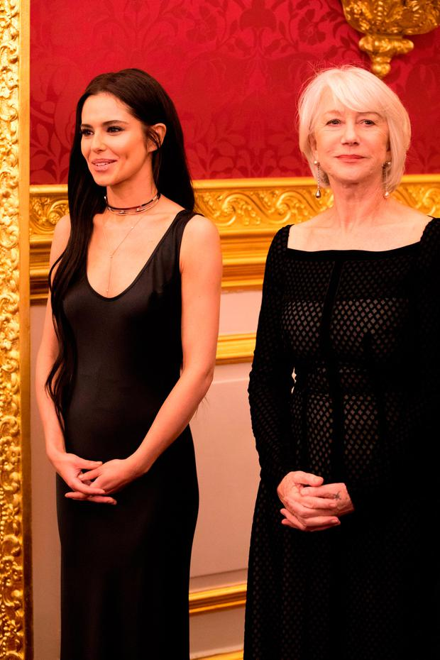 Singer Cheryl Tweedy and actress Dame Helen Mirren attend an 'Invest In Futures' reception for The Prince's Trust at St James's Palace on February 8, 2018 in London, England. (Photo by John Phillips - WPA Pool/Getty Images)