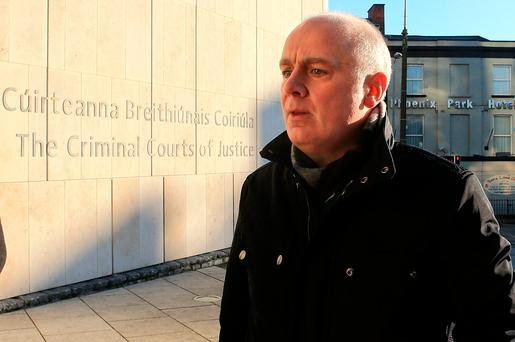 Former Anglo Irish Bank chief executive David Drumm pictured as he arrives at the Criminal Courts of Justice. Picture; Gerry Mooney