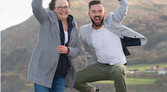 Kathy Ryan and TV3's Deric Ó hArtagáin will walk part of the Camino Way together in September.