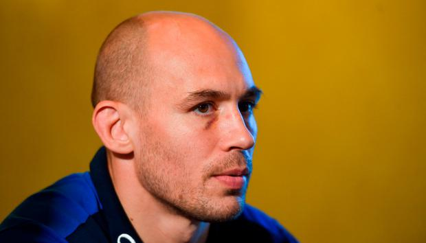 Sergio Parisse during the Italy Press Conference at the Radisson St Helen's Hotel in Stillorgan, Dublin. Photo by David Fitzgerald/Sportsfile