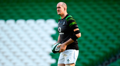 Devin Toner will be ravenous to get stuck into the Italians after watching most of last weekend's game from the bench. Photo: Sportsfile