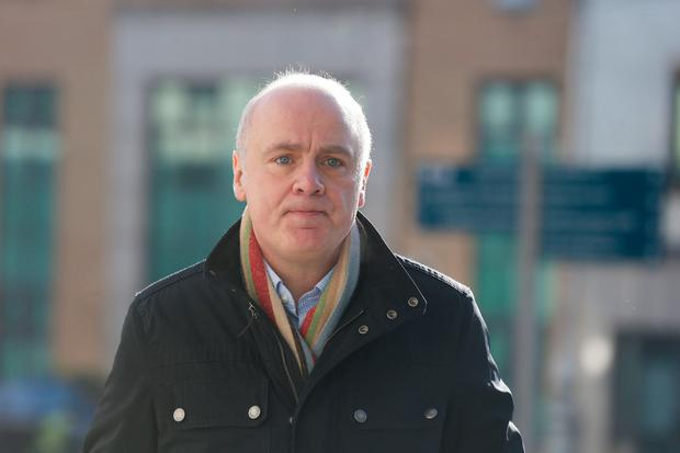 David Drumm, the former chief executive of Anglo Irish Bank, arrives at court yesterday. Photo: Collins Courts