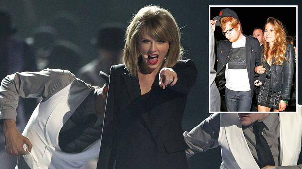 Ed Sheeran says he has Taylor Swift to thank for his engagement