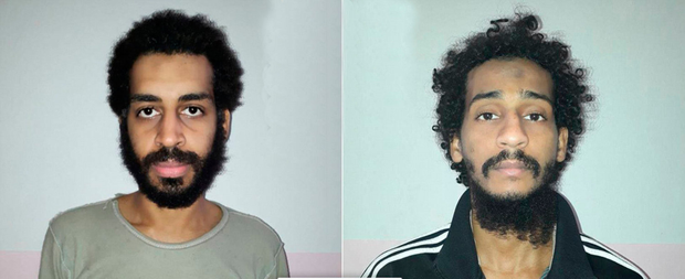 Captured: 'Beatles' Alexanda Kotey and El Shafee Elsheikh. Photo: Reuters