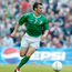 Taken far too early: Liam Miller in action for Ireland at Lansdowne Road. The midfielder won a total of 21 caps. Photo: Sportsfile