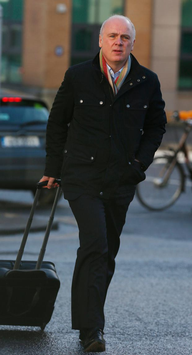 David Drumm arrives at Dublin Circuit Court last week where he denies two charges against him. Photo: Collins Courts