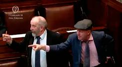 Michael (right) and Danny Healy-Rae in the Dáil. Photo: PA