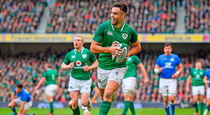 Conor Murray races clear to score. Photo: Sportsfile