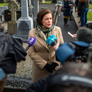 Markievicz Memorial: Mary Lou McDonald at Glasnevin Cemetery last week. Photo: Doug O'Connor
