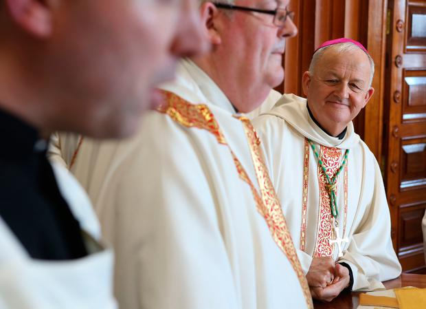 Dr Brendan Kelly at his installation as Bishop of Galway, Kilmacduagh and Apostolic Administrator of Kilfenora in Galway Cathedral. Photo: Aengus McMahon