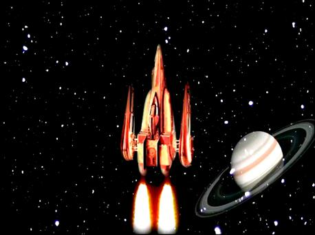 A screenshot from a video issued by Kings College London of a rocket in a space game, as scientists believe that they have made a breakthrough in treating schizophrenia by helping patients train themselves to control verbal hallucinations using an MRI scanner and a computer game. Photo: Kings College London/PA