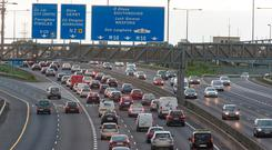 Traffic jams on the M50 are causing concern for transport bosses. Photo: Arthur Carron