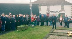 New Sinn Féin leader Mary Lou McDonald attends a wreath-laying ceremony to commemorate the 46th anniversary of IRA man Peter McNulty, who blew himself carrying a bomb in 1972