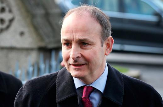 Micheal Martin's Fianna Fail party need to start creating their own luck. Photo: Steve Humphreys