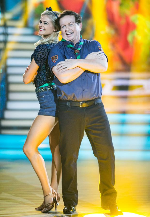 Marty Morrissey and Emily Barker doing a jive. Photo: Kyran O'Brien