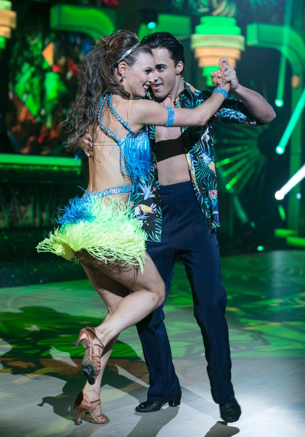 Singer and Brother of Nathan Jake Carter and Valeria Kuzmin ,during the Switch Up Live show of RTE's Dancing with the Stars. kobpix/NO FEE for repro.