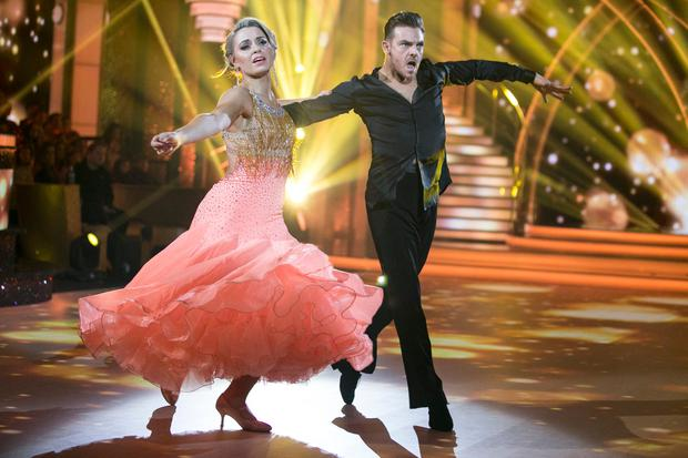 Former Cork Camogie Player and Broadcaster Anna Geary and Ryan McShane, during the Switch Up Live show of RTE's Dancing with the Stars