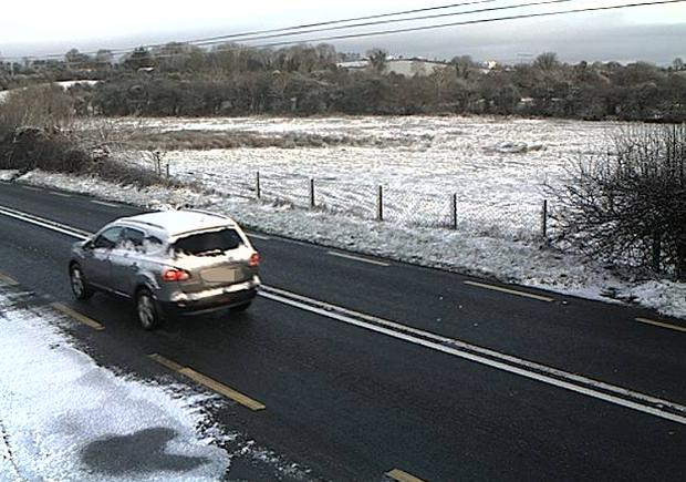 Image of the road conditions on the N4 this morning at the Collooney bypass