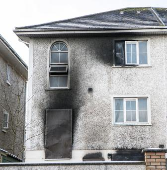 The scene of Saturday's fire in Tyrrellstown