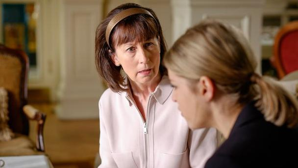 Irene (Ingrid Craigie) on Striking Out with daughter Tara (Amy Huberman)