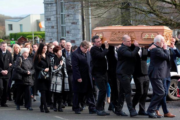 Hundreds of mourners farewell Liam Miller in Ireland