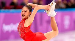 Mirai Nagasu of the United States competing in the Figure Skating Team Event on day three of the Winter Olympic Games. Photo by Richard Heathcote/Getty Images