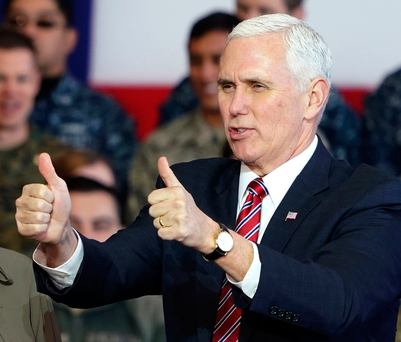 US Vice President Mike Pence. Photo: AP