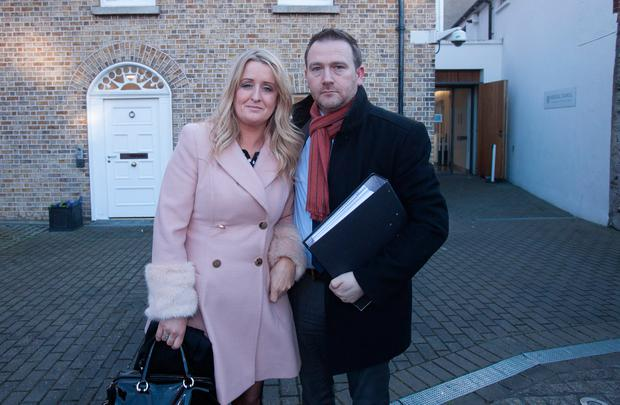 Róisín and Mark Molloy leave a fitness-to-practise hearing at the Medical Council in Dublin. Photo: Gareth Chaney