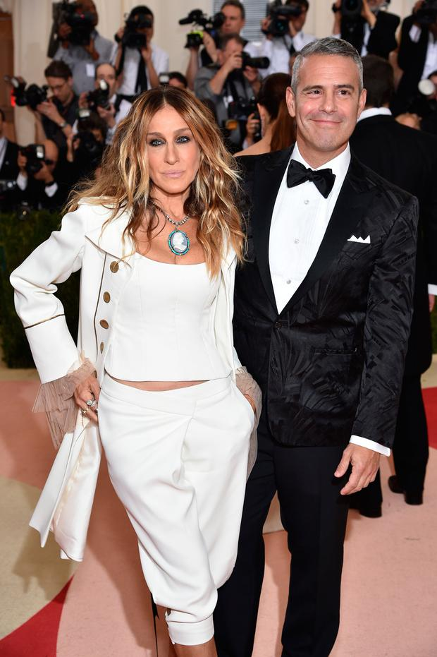 Sarah Jessica Parker (L) and Andy Cohen attend the