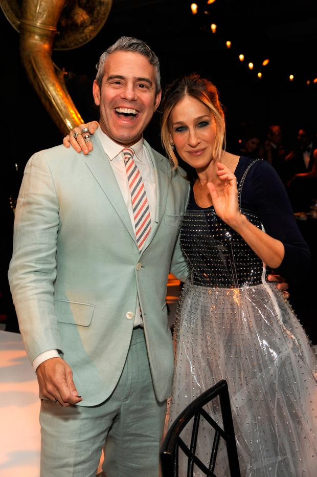 Andy Cohen and Sarah Jessica Parker attend the 2016 Parsons Benefit at Chelsea Piers on May 23, 2016 in New York City. (Photo by Rabbani and Solimene Photography/Getty Images for Parsons School of Design/The New School)