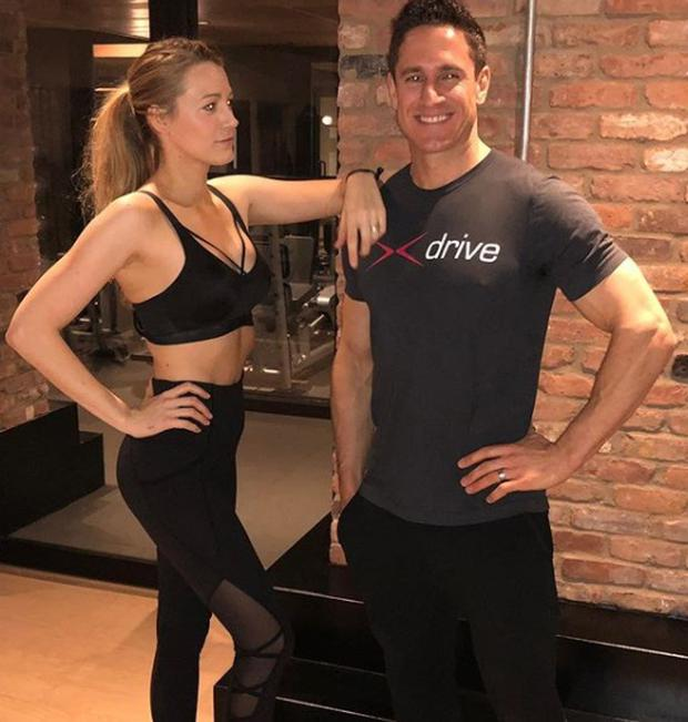 Blake Lively and her personal trainer Don Saladino. Picture: Instagram