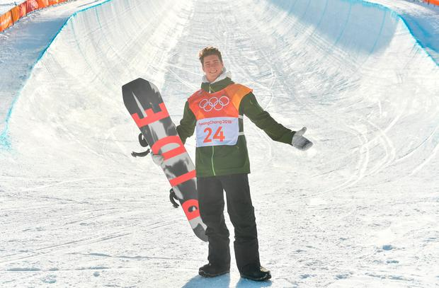 Seamus O'Connor of Ireland after completing round 2 of the Halfpipe Qualifications on day four of the Winter Olympics
