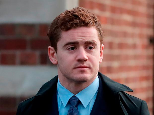 Ireland and Ulster rugby player Paddy Jackson arrives at Belfast Crown Court where he and his teammate Stuart Olding are on trial accused of raping a woman at a property in south Belfast in June 2016.Niall Carson/PA Wire