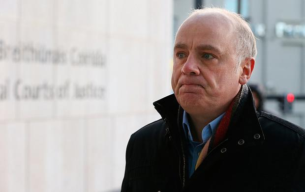 Former Anglo Irish Bank chief executive David Drumm pictured arriving to court on Monday February 12. Photo: Collins Courts