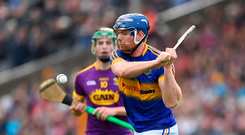 16 April 2017; Jason Forde of Tipperary during the Allianz Hurling League Division 1 Semi-Final match between Wexford and Tipperary at Nowlan Park in Kilkenny. Photo by Ramsey Cardy/Sportsfile