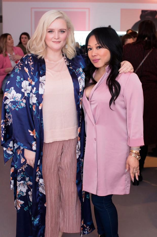 Louise McSharry & Mylah Morales at the launch of the PS...Beauty NUDE Collection by Primark at the RHA Gallery. Picture: Anthony Woods