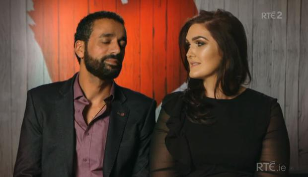 Agmad and Ailish on First Dates Ireland