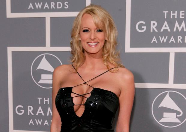 In this Feb. 11, 2007, file photo, Stormy Daniels arrives for the 49th Annual Grammy Awards in Los Angeles (AP Photo/Matt Sayles, File)