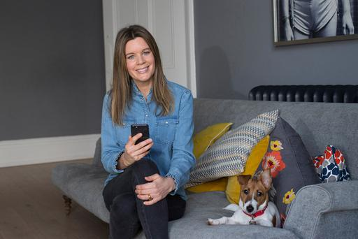 Rhona McAuliffe admits Snapchat fills a void for her. Photo: Mark Condren