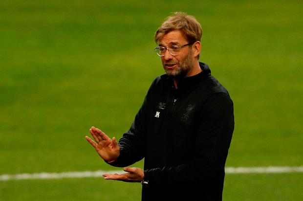 Soccer Football - Champions League - Liverpool Training - Estadio do Dragao, Porto, Portugal - February 13, 2018 Liverpool manager Juergen Klopp during training Action Images via Reuters/Matthew Childs