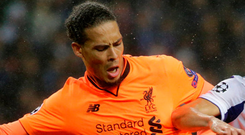 Van Dijk: Impressive display Photo: REUTERS/Miguel Vidal