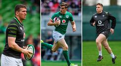 Chris Farrell, Garry Ringrose and Rory Scannell