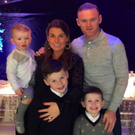 Coleen Rooney with husband Wayne Rooney and children Kai, Kit and Klay
