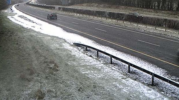 The M7 at Junction 17 this morning (image via TII)