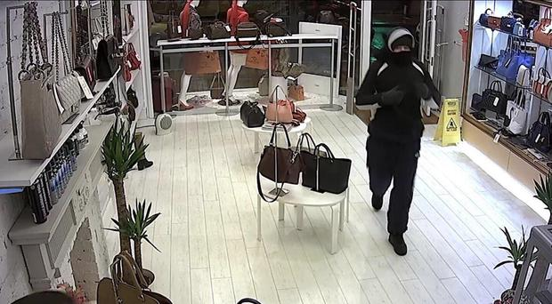 An image from the CCTV recorded during the attempted burglary