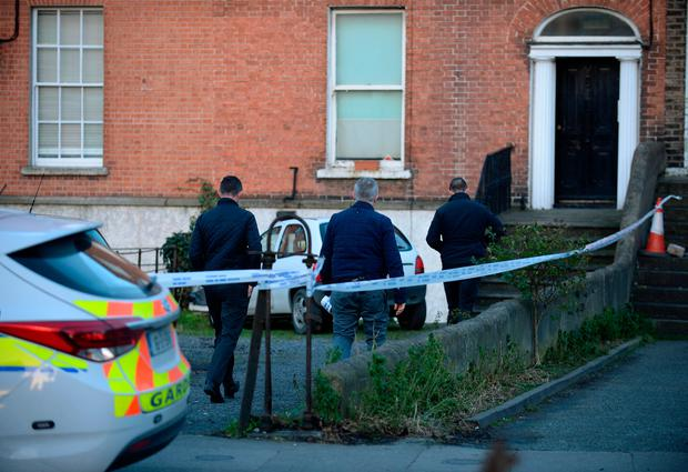 General view of Gardai at scene on Ranelagh road, Dublin. Picture: Caroline Quinn