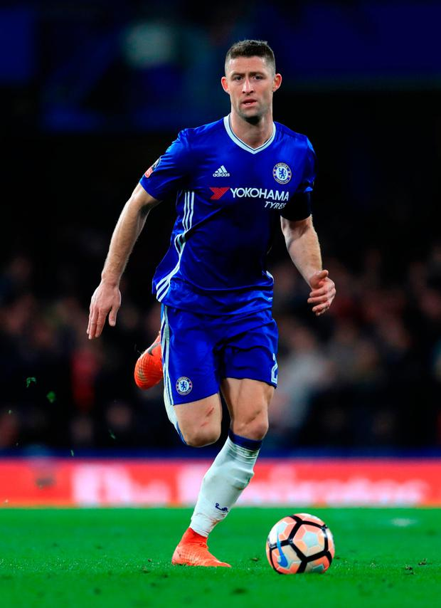 Chelsea's Gary Cahill is understood to be devastated about Hull's Ryan Mason retiring from football this week, one year on from the head injury he suffered in a collision with Cahill at Stamford Bridge. Photo: PA