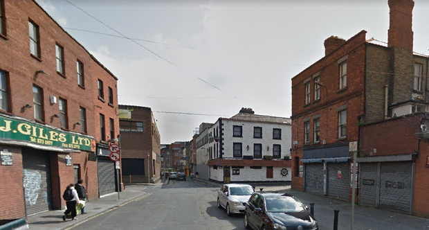 One of the robberies took place on Mary's Lane in Dublin's Smithfield. Pic; Google Maps
