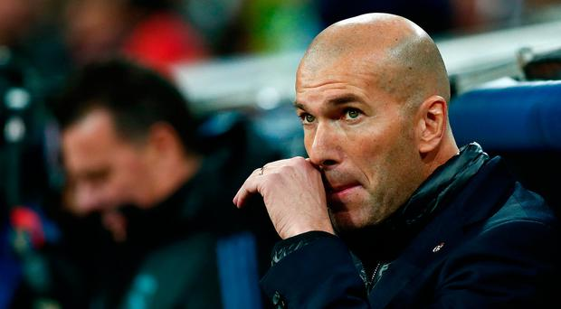 Real Madrid head coach Zinedine Zidane. Photo: Getty