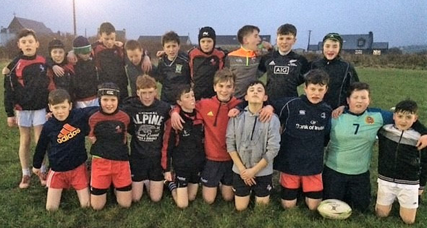 The Corca Dhuibhne U-14 players who took part in a development workshop in Dingle